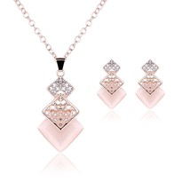 3Pcs Women's Jewelry Set Earrings Geometry Necklace Accessories - $9.99