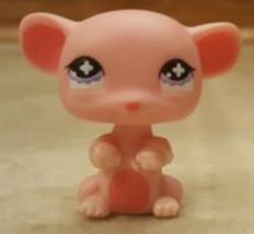 Littlest Pet Shop #633 ~ Pink w/Pink Little Mouse w/Purple Eyes - Cross ... - $3.50