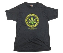 VTG United Marijuana Smokers of Michigan Black Graphic Shirt Men's Size XL 46-48 - $98.95
