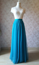 Blue Bridesmaid Tutu Skirt 2 Piece Outfit High Waisted A-Line Bridesmaid Skirt image 3