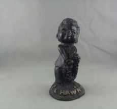 Vintage Poly Art Tiki Figurine - L'il Hawaiian King - Baby Series - With... - $59.00