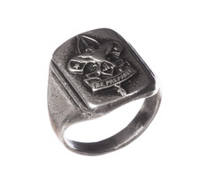 Art Deco Sterling Silver Boy Scout Ring - $225.00