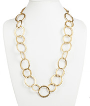 Kenneth Lane Hammered Circle Link Necklace - $180.00