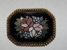 Victorian Pietra Dura Pin - $342.00