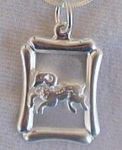 Capricorn  B zodiac silver pendant  - $22.00