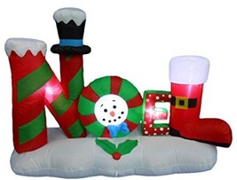 4 Foot Tall Lighted Christmas Inflatable Noel Yard Decoration Lawn - $141.56