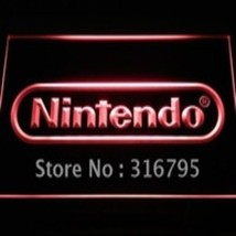 neon light sign nintendo   video  game  game room arcade - $24.99