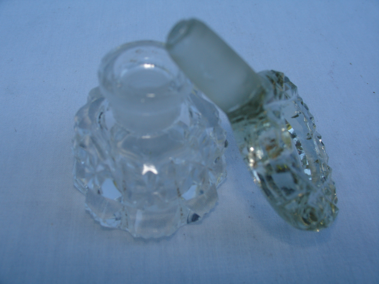 Primary image for Perfume Bottle Clear Cut Glass Crystal Vintage