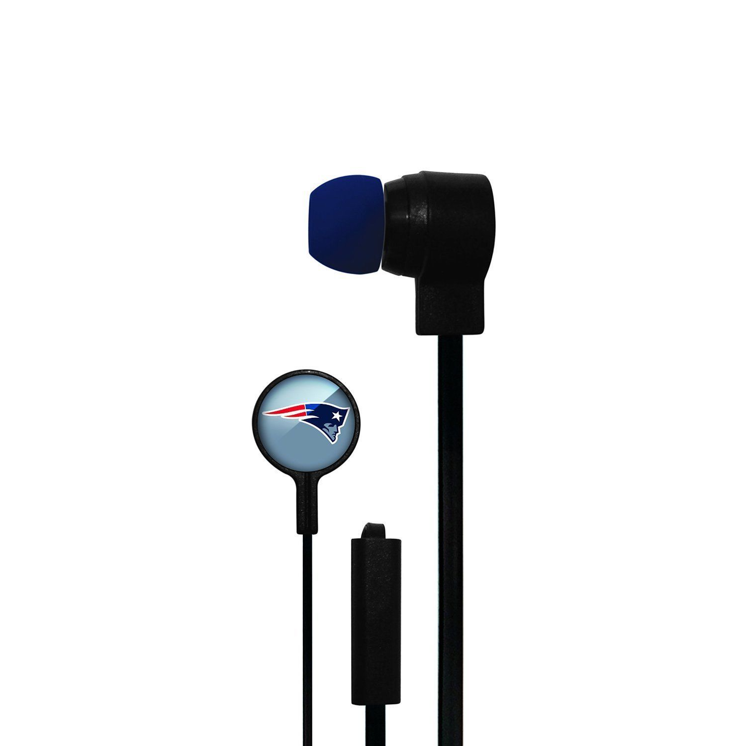 NEW ENGLAND PATRIOTS MIZCO STEREO EAR BUDS iPod iPhone iPad Android HANDSFREE