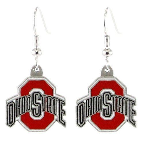 OHIO STATE BUCKEYES PAIR DANGLE EARRINGS TEAM LOGO PARTY TAILGATE NCAA