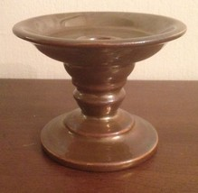 PARTYLITE CANDLE STICK OR PILLAR HOLDER BRONZE LOOK WITH PATINA - $8.56
