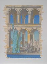 "Norvel Hermanovski ""Statue of Liberty"" 1986- S/N Silkscreen - Retail $1.... - $650.00"