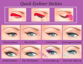 Quick Eyeliner Stickies Stencil Cosmetic Eye Makeup Tool Free Shipping NEW CA4 - $19.00