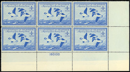 RW15 Duck Plate Block of Six VF-XF NH Cat $400.00 - Stuart Katz - $275.00