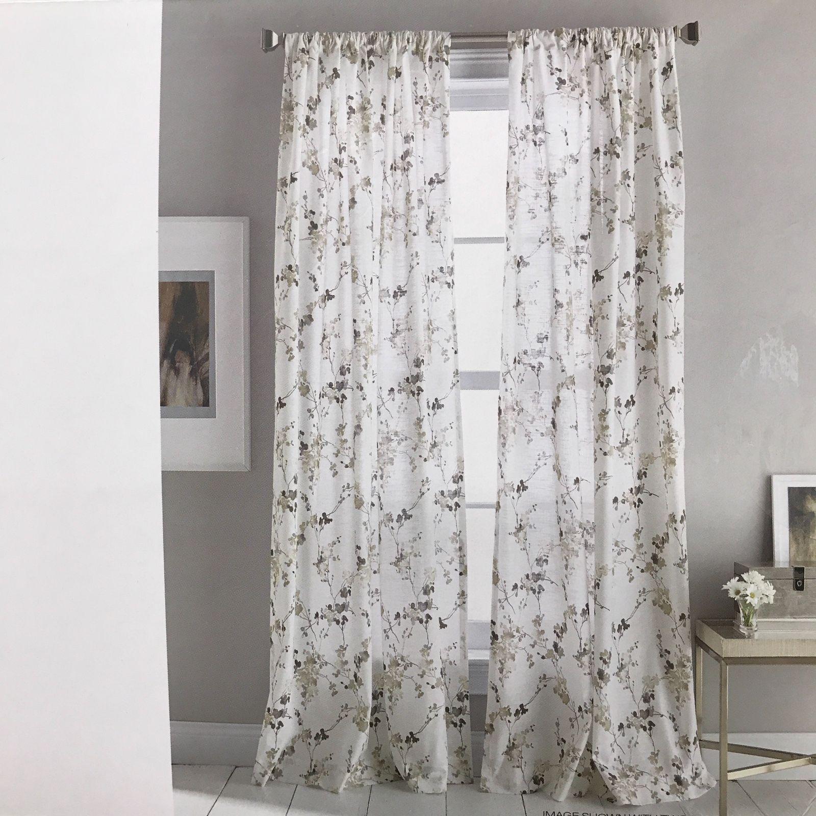 DKNY 2 Wallflower Rod Pocket Window Curtains Panels Drapes 50x96 50x84 New