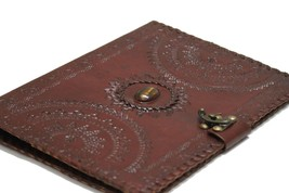 Leather BINDER FOLDER PORTFOLIO PADFOLIO ORGANIZER, Black, Brown, Burgun... - $40.00