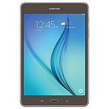 """8.0"""" Samsung Galaxy Tab A - 16GB Smoky Titanium w/ Carrying Pouch GPS - $207.85"""