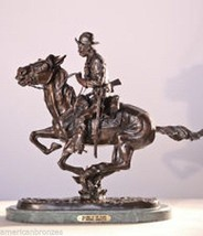 American Bronzes Trooper of The Plains Solid Bronze Statue by F.  Reming... - $448.50