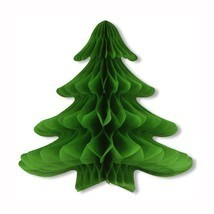 Tissue Hanging Green Christmas Tree - 23in x 25in by Beistle - $11.67