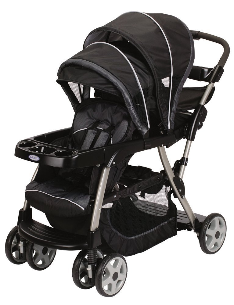 Double Stroller With  Car Seats Included