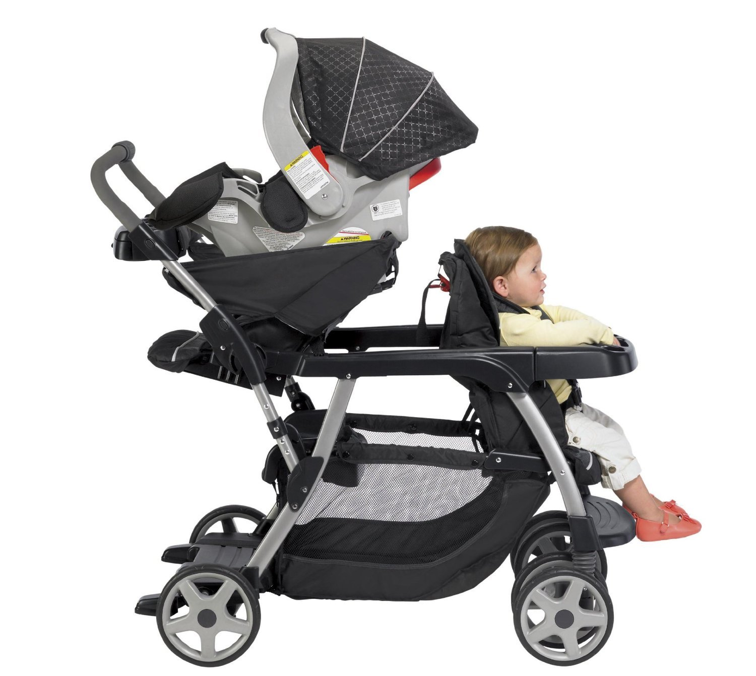 photo booth background ideas - Graco Double Stroller Twin Stroller with 2 Car Seats