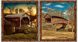 "Artworks VII-Covered Bridges-Quilting Treasures-Digital Print-24"" x 43""-... - $12.95"