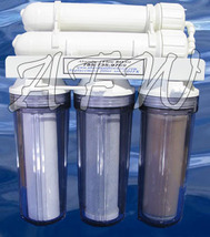 New Dual Membrane Reef Aquarium Reverse Osmosis RO DI Water Filter 150GPD - €203,84 EUR