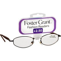 Foster Grant Gold Fashion Readers Eyeglasses +2.50 High Fashion Olive - $19.99
