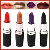Lipstick Vampire Lip Color 4 Matte Shades Orange Golden Violet and Vampire Blood image 1