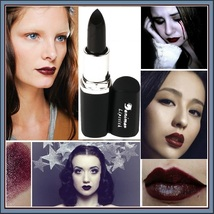 Lipstick Vampire Lip Color 4 Matte Shades Orange Golden Violet and Vampire Blood image 5