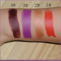 Lipstick Vampire Lip Color 4 Matte Shades Orange Golden Violet and Vampire Blood image 6