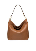 Michael Kors Luggage Leather Top Zip Fulton Medium Slouch Shoulder Bag - $310.99