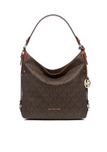 Michael Kors Brown PVC, Pleather, Leather Top Zip Bedford Belted Shoulde... - $325.99