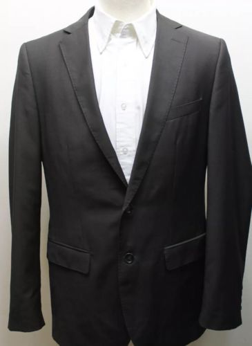 Zara Man Blazer Dark Brown 2 Buttons Classic Fit  38R Wool Blend Men Turkey Line