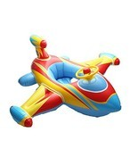 ED-Lumos Red Plane Inflatable Baby Float Seat Boat Swim Ring for Kids Su... - €36,45 EUR