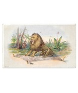 Huntington Pianos York PA Lion and the Mouse Victorian Trade Card Julius... - $5.69