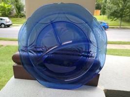 Royal Lace Grill Blue Plate 10 inch Depression Glass Hazel Atlas  - $29.90
