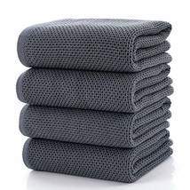 CC CAIHONG Towels Waffle Weave Drying Cotton (Bath Towels - Set of 4|Gre... - $74.59