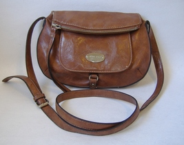Brown Nine West Faux Leather Purse Adjustable Strap Shoulder Bag Handbag Tote  - $22.00