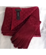 F86019 scarf f86026 gloves set bright berry   light berry  2  thumbtall