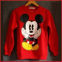 Cartoon Mouse Character Front N Back Printed Long Sleeve Cotton Sweat Shirt image 3