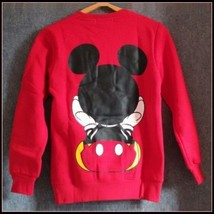 Cartoon Mouse Character Front N Back Printed Long Sleeve Cotton Sweat Shirt image 4