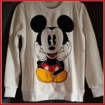 Cartoon Mouse Character Front N Back Printed Long Sleeve Cotton Sweat Shirt image 6