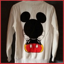 Cartoon Mouse Character Front N Back Printed Long Sleeve Cotton Sweat Shirt image 7