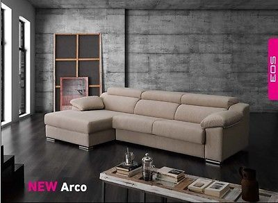 Arco Sectional Sofa Sleeper Bed Living Room Modern Contemporary Made in Spain