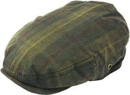 Henschel British Military Waxed Cotton Ivy Cap Plaid Pattern Cotton Lini... - $58.00