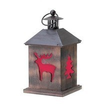 Holiday Cabin Wooden Lantern - $17.82