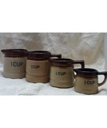 Vintage Measuring Cups // Rustic Glazed Terra Cotta Measuring Cups - $15.00