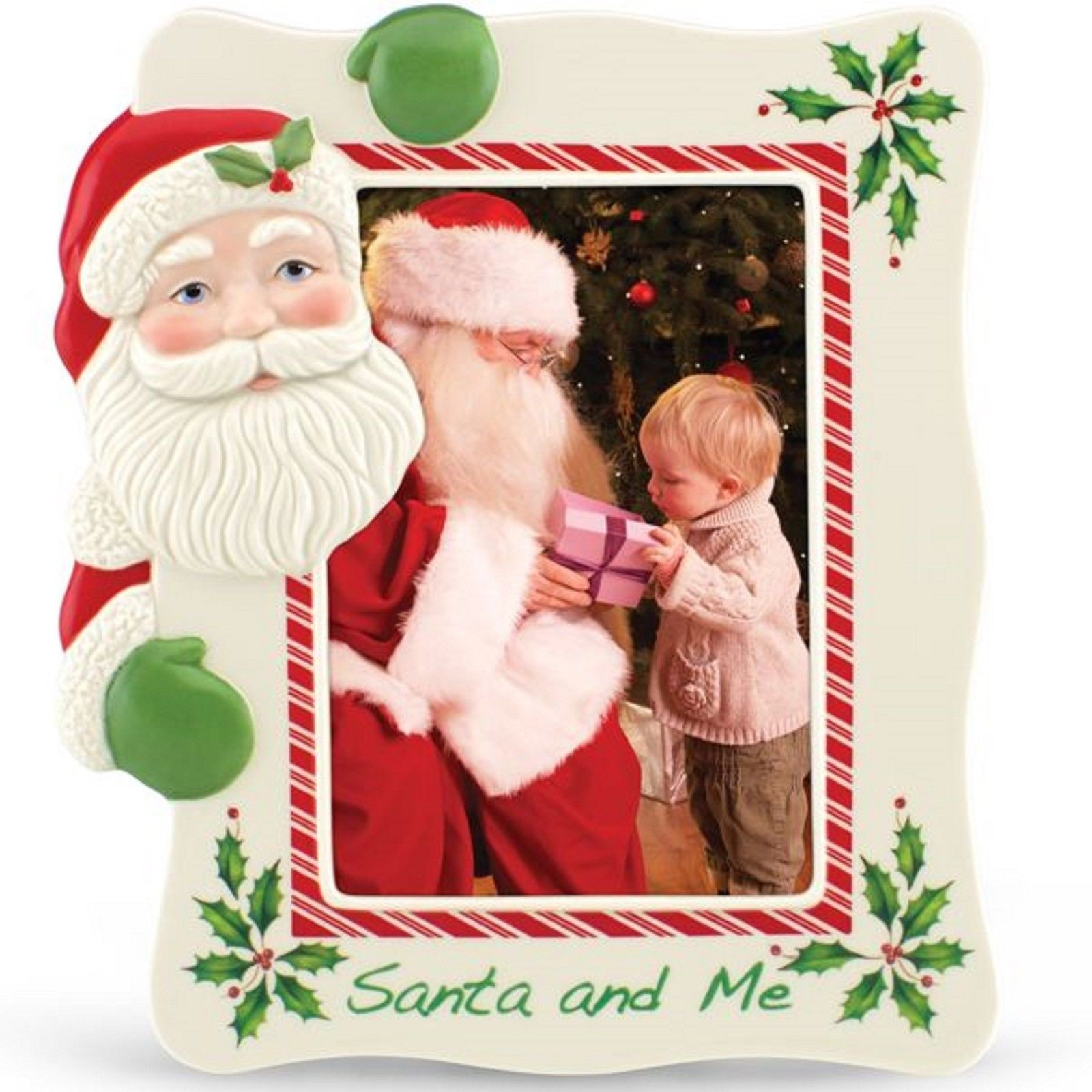 """Lenox Christmas Holiday Santa Claus & Me Photo Frame Mall Picture 5""""x7"""" Gift NEW"""
