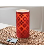 """8""""  Flameless Candle and Spa Fountain by Valerie  Red  AE2 - $29.09"""
